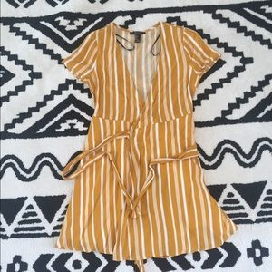 [Forever 21] Striped Front Tie Wrap Dress